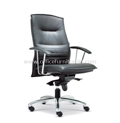 FORCE DIRECTOR MEDIUM BACK LEATHER CHAIR WITH ALUMINIUM DIE-CAST BASE ASE 280