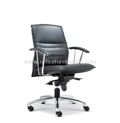 FORCE DIRECTOR LOW BACK LEATHER CHAIR WITH ALUMINIUM DIE-CAST BASE ASE 260