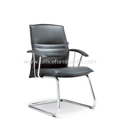 FORCE DIRECTOR VISITOR LEATHER CHAIR WITH CHROME CANTILEVER BASE ASE 220