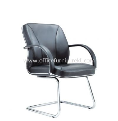 CERIA DIRECTOR VISITOR LEATHER CHAIR WITH CHROME TRIMMING LINE