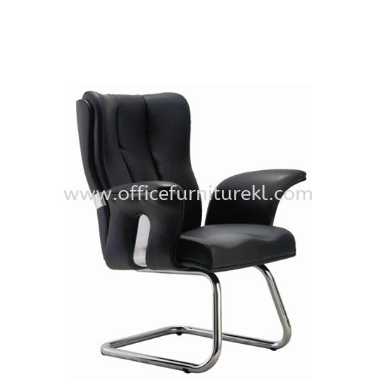 SPRING DIRECTOR VISITOR LEATHER CHAIR C/W CHROME CANTILEVER BASE