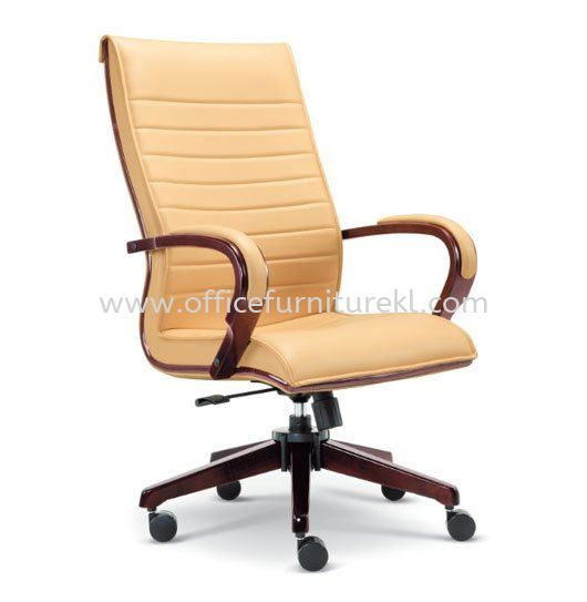 EDORA DIRECTOR HIGH BACK LEATHER OFFICE CHAIR - Top 10 Must Buy Wooden Director Office Chair | Wooden Director Office Chair Bukit Bintang City Centre | Wooden Director Office Chair Bandar Baru Klang | Wooden Director Office Chair Bandar Bukit Tinggi