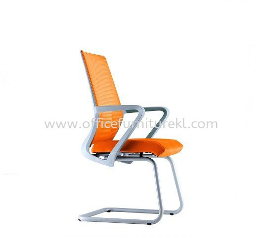 ASTER 3 VISITOR ERGONOMIC MESH CHAIR C/W EPOXY GREY CANTILEVER BASE