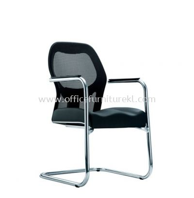MANSION 2 VISITOR ERGONOMIC MESH CHAIR C/W CHROME CANTILEVER BASE
