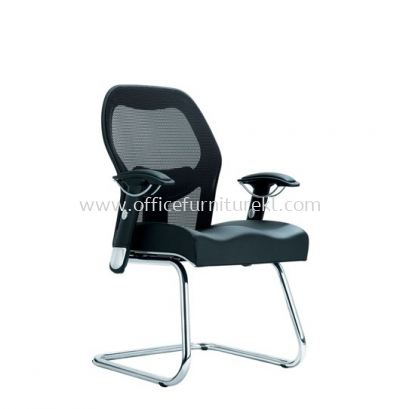 MANSION 2 VISITOR ERGONOMIC MESH CHAIR WITH CHROME CANTILEVER BASE