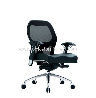 MANSION 2 LOW BACK ERGONOMIC MESH CHAIR WITH ALUMINIUM ROCKET DIE-CAST BASE