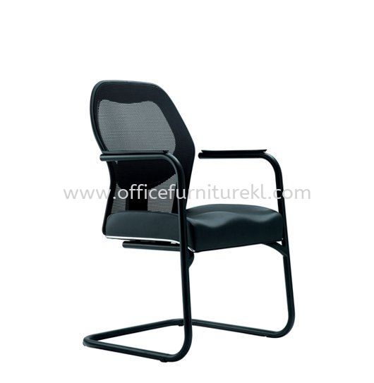 MANSION 1 VISITOR ERGONOMIC MESH CHAIR C/W EPOXY BLACK CANTILEVER BASE