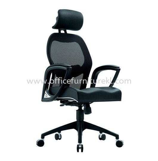 MANSION 1 HIGH BACK ERGONOMIC MESH CHAIR C/W NYLON ROCKET BASE