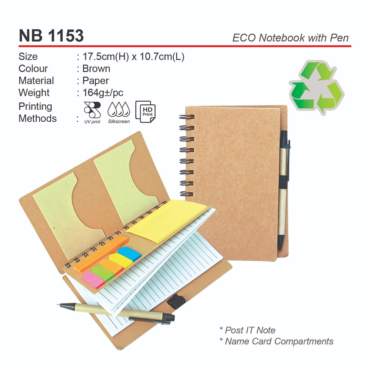 NB 1153 ECO Notebook with Pen
