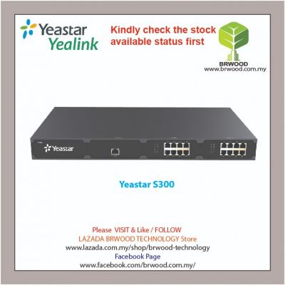 YEASTAR S300: VOIP PBX FOR 300 USERS 60 CONCURRENT CALL
