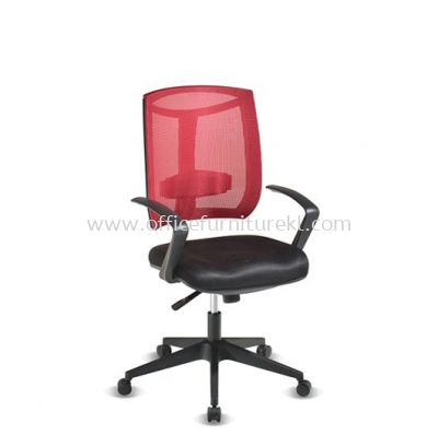 JENKAL LOW BACK MESH CHAIR WITH PP BASE & BACK SUPPORT-AJK-N2