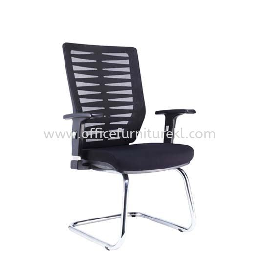 BONE VISITOR ERGONOMIC MESH CHAIR WITH CHROME CANTILEVER BASE