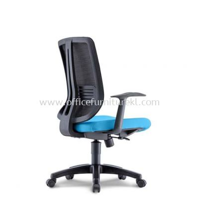 HERMAN 1 MEDIUM BACK ERGONOMIC MESH CHAIR WITH FIXED T SHAPE ARMREST