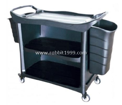 3 TIERS UTILITIES CART c/w 3 side cover and bucket