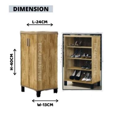 ERICA Shoes Rack Cabinet Melamine Wood / Simple Moderm / Nice Design / Storage Modern Style