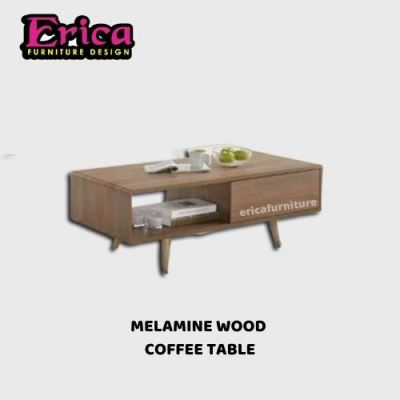 ERICA Melamine Wood Coffee Table / Nice Colour / Modern Design / Waterproof / Good Condition / Simpl