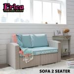 ERICA Sofa Two Seater With Cushion Polypropylene / Modern Chair / Nice Colour / Good Material