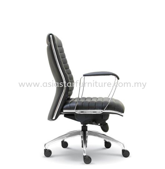 ZICA DIRECTOR OFFICE LOW BACK LEATHER CHAIR WITH CHROME TRIMMING LIN