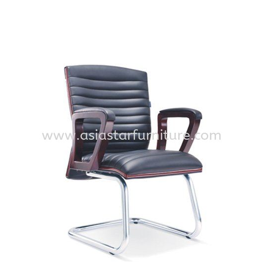 STONOR DIRECTOR VISITOR LEATHER OFFICE CHAIR WITH CHROME CANTILEVER BASE- wooden director office chair ultramine industrial park | wooden director office chair taipan business centre | wooden director office chair pudu
