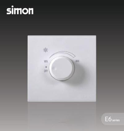 SIMON 72E101 500W ROTARY DIMMER (INCANDESCENT BULB) WHITE