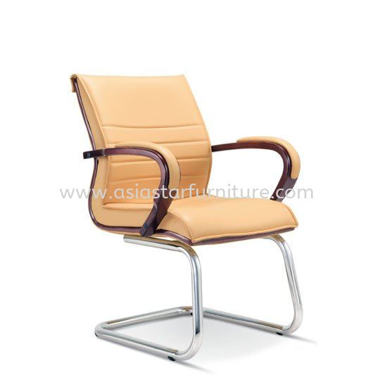 UTMOST WOODEN VISITOR BACK OFFICE CHAIR  - wooden director office chair taman tun dr ismail | wooden director office chair ttdi | wooden director office chair menjalara