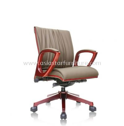 WONO ll WOODEN LOW BACK CHAIR C/W WOODEN TRIMMING LINE ACL 7704