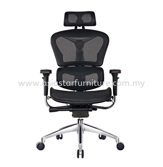 ARVIKA HIGH BACK FULLY MESH CHAIR WITH ALUMINIUM BASE & ADJUSTABLE HANDLE ARK -1