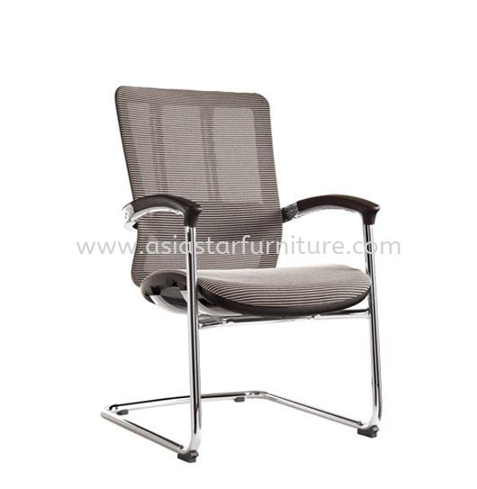 FUTURE VISITOR FULLY MESH OFFICE CHAIR WITH CHROME BASE & BACK SUPPPORT -mesh office chair pj old town | mesh office chair pj new town | mesh office chair taman muda