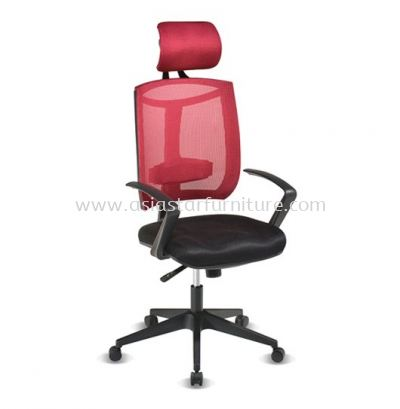 JENKAL HIGH BACK MESH CHAIR WITH PP BASE & BACK SUPPORT-AJK-N1