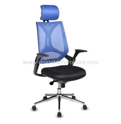 KLIPPAN HIGH BACK MESH CHAIR WITH CHROME BASE-AKP-1