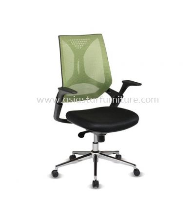 KLIPPAN LOW BACK MESH CHAIR WITH CHROME BASE-AKP-2