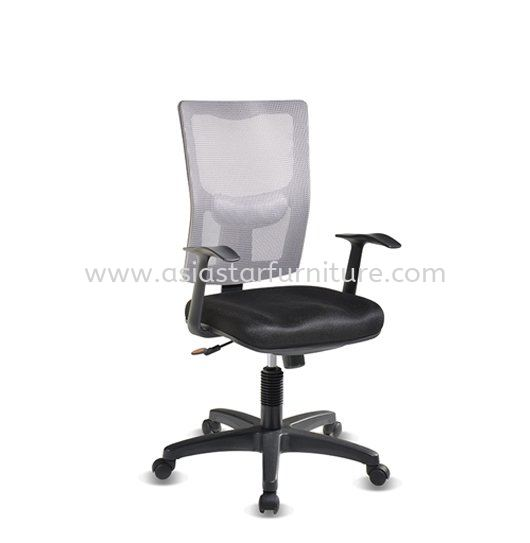 MELBY LOW BACK MESH CHAIR WITH PP BASE & BACK SUPPORT-AMB-P2