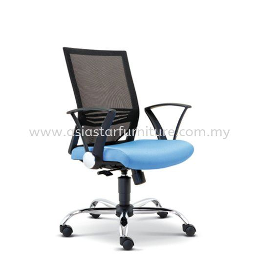 RELEASE LOW BACK MESH CHAIR WITH CHROME AND PP CHROME ARMREST ASE-2611