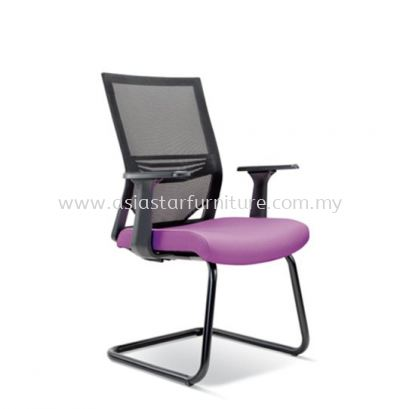 RELEASE VISITOR CHAIR WITH FASHIONABLE STYLISH PP ARMREST AND EPOXY BLACK BASE ASE-2618