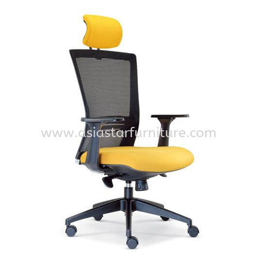 TALENT MESH HIGH BACK OFFICE CHAIR WITH ROCKET NYLON BASE -mesh office chair sungai way | mesh office chair ara damansara | mesh office chair taman connaught