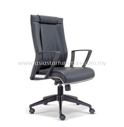 GREATER MEDIUM BACK CHAIR WITH CHROME TRIMMING LINE ASE2522