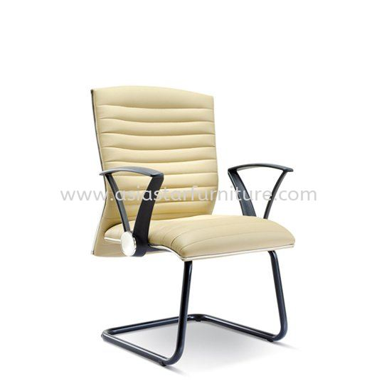 HOMEY VISITOR CHAIR WITH CHROME TRIMMING LINE ASE2384