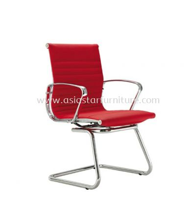 LEO VISITOR CHAIR UPHOLSTERY WITH CHROME BODY FRAME ACL 8600
