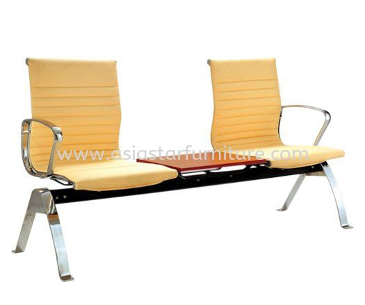 LEO TWO SEATER LINK CHAIR UPHOLSTERY WITH CHROME BODY FRAME - Top 10 Best Office Furniture Product | executive office chair Bukit Gasing | executive office chair Taman Paramount | executive office chair Ara Damansara