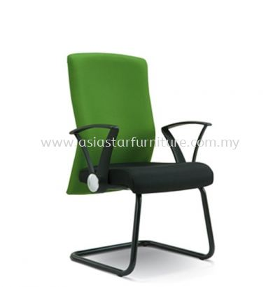 GAIN VISITOR CHAIR WITH EPOXY BLACK CANTILEVER BASE ASE2274