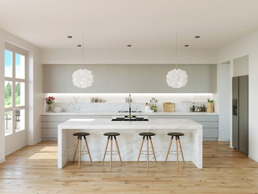 Grey-and-White-Marble-Kitchen