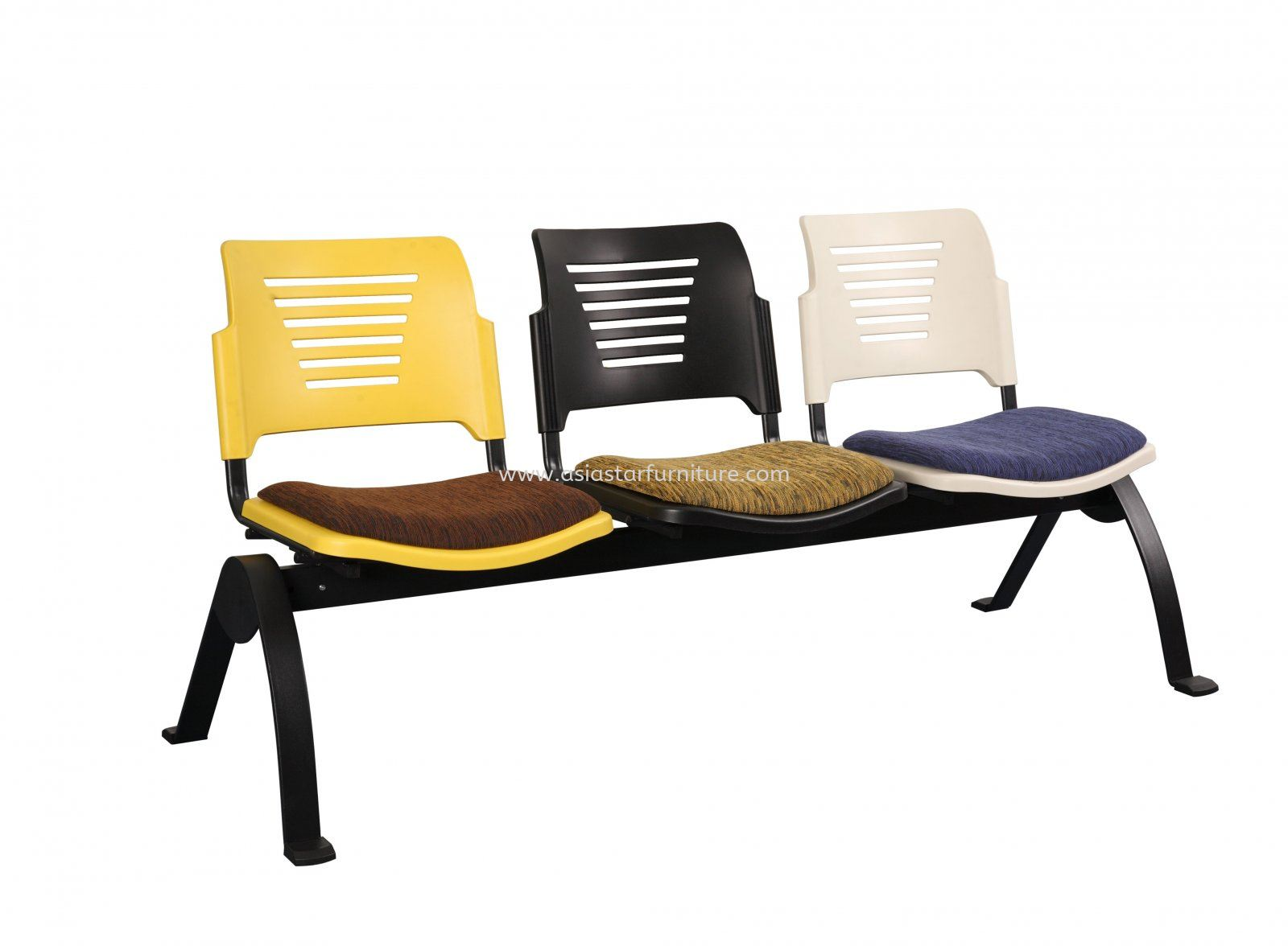 AEXIS PP 3 SEATER LINK CHAIR C/W EPOXY BLACK N-SHAPE METAL BASE ACL 56-3N UF-S