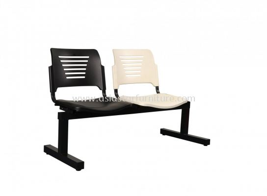 AEXIS PP 2 SEATER LINK CHAIRC/W EPOXY BLACK T-SHAPE METAL BASE ACL 56-2