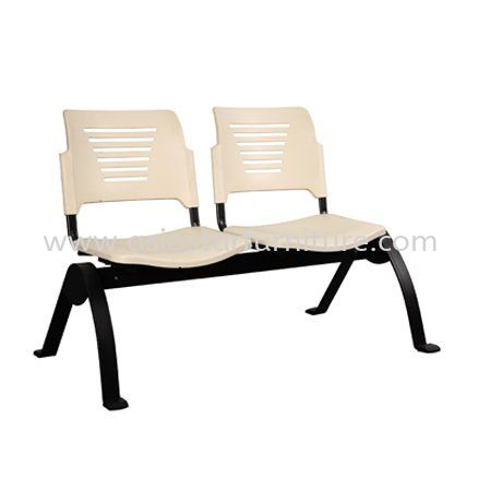 AEXIS PP 2 SEATER LINK CHAIR C/W EPOXY BLACK N-SHAPE METAL BASE - folding/training chair - computer chair kelana centre   folding/training chair - computer chair seputeh   folding/training chair - computer chair bangi