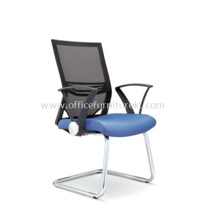 RELEASE VISITOR CHAIR WITH COMBINATION CHROME AND PP CHROME ARMREST ASE-2615