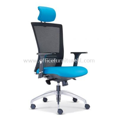 TALENT 1 HIGH BACK ERGONOMIC MESH CHAIR WITH ALUMINIUM ROCKET DIE-CAST BASE