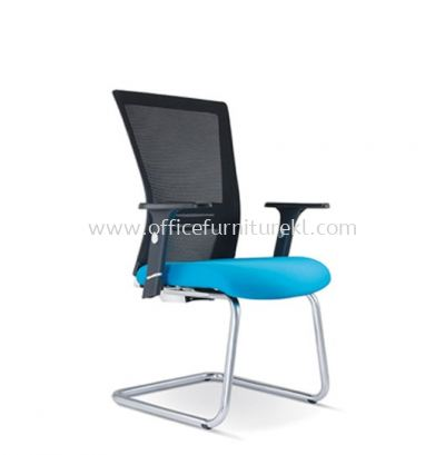 TALENT 1 VISITOR ERGONOMIC MESH CHAIR WITH CHROME CANTILEVER BASE