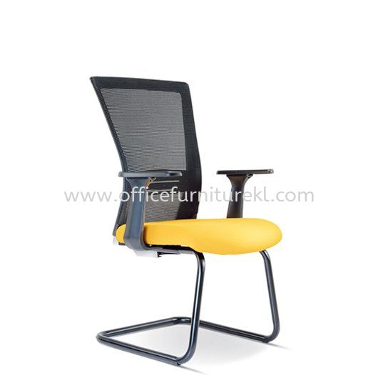 TALENT 2 VISITOR ERGONOMIC MESH CHAIR WITH EPOXY BLACK CANTILEVER BASE