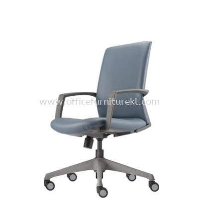 FITS EXECUTIVE MEDIUM BACK LEATHER CHAIR WITH ROCKET NYLON GREY AFT 5711L