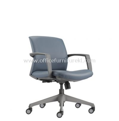 FITS EXECUTIVE LOW BACK LEATHER CHAIR WITH ROCKET NYLON GREY BASE AFT 5712L